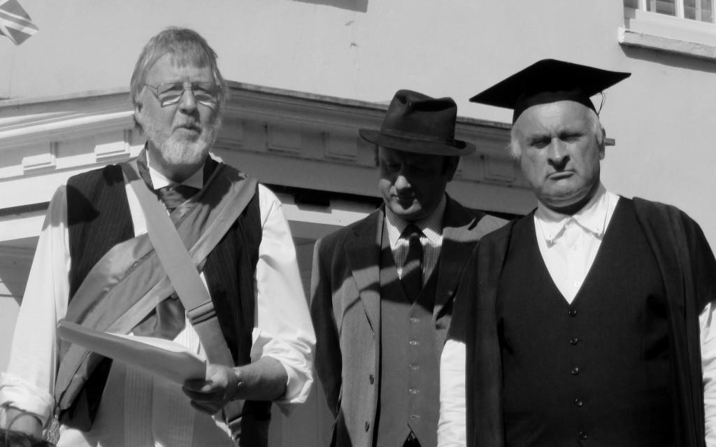 GV, Squire, Vicar b&w