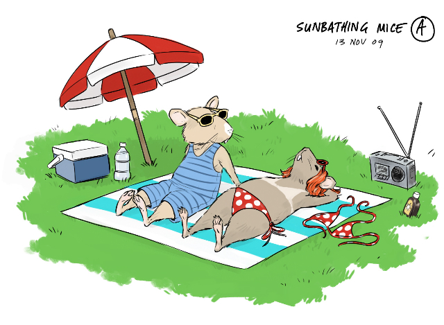 sunbathing-mice-drawing (1)